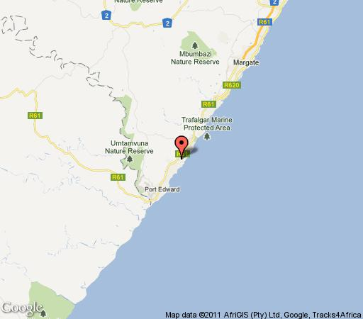 Map The Potbelly Beach House in Munster  South Coast (KZN)  KwaZulu Natal  Suid-Afrika