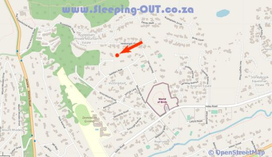 Map Cap Serein Guest House in Hout Bay  Atlantic Seaboard  Cape Town  Western Cape  South Africa