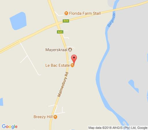 Map Le Bac Stay in Paarl  Cape Winelands  Western Cape  South Africa