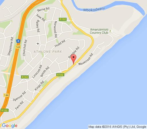 Map Tuscanview Guest House in Amanzimtoti  South Coast (KZN)  KwaZulu Natal  South Africa
