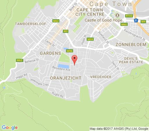 Map Ambiance Apartment in Oranjezicht  City Bowl  Cape Town  Western Cape  South Africa