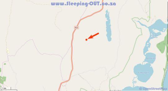 Map Thembe Eco Lodge Kosibay in Kosi Bay  Zululand  KwaZulu Natal  South Africa