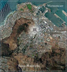 Map Cape Heritage Hotel in Ville de Cape Town  City Bowl  Cape Town  Western Cape  Afrique du Sud