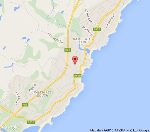 Map The Stone Cottage in Ramsgate  South Coast (KZN)  KwaZulu Natal  South Africa
