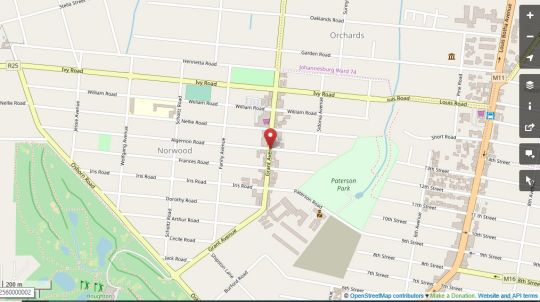 Map Ascot Boutique Hotel in Norwood  Sandton  Johannesburg  Gauteng  South Africa