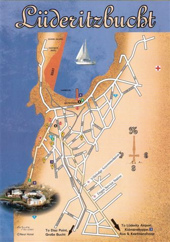 Map Villelodge Accommodation in Luderitz  Karas  Namibia