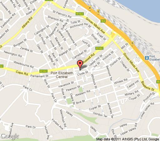 The dondi lodge port elizabeth central south africa - Port elizabeth south africa map ...