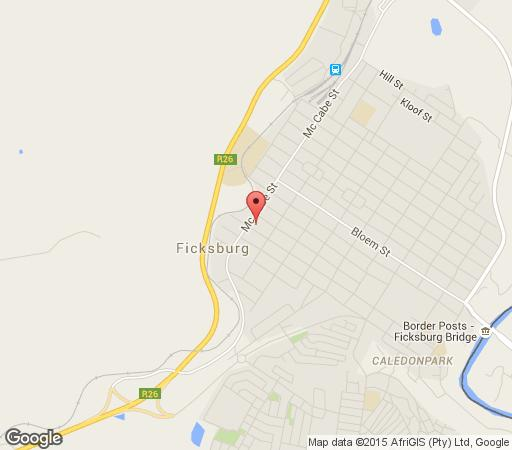 Map Oregon Cottage Guesthouse in Ficksburg  Thabo Mofutsanyana  Free State  South Africa