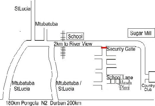 Map Marula Place Zululand  in Mtubatuba  Zululand  KwaZulu Natal  South Africa