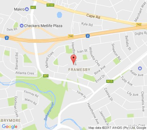 Map Lin\'s Guest Flat in Framesby  Port Elizabeth  Cacadu (Sarah Baartman)  Eastern Cape  South Africa