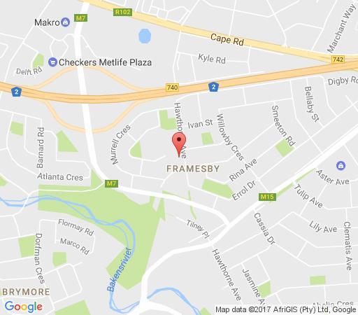 Map Lin\'s Guest Flat in Framesby  Port Elizabeth  Cacadu (Sarah Baartman)  Eastern Cape  South Africa