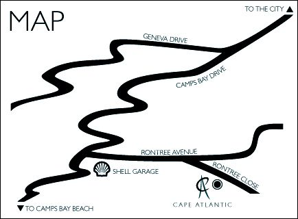 Map Cape Atlantic in Camps Bay  Atlantic Seaboard  Cape Town  Western Cape  South Africa