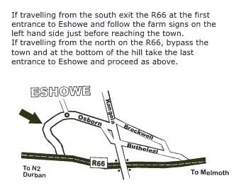 Map Chase Guest House in Eshowe  Zululand  KwaZulu Natal  South Africa