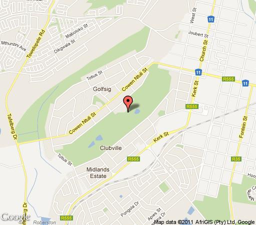 Map Middelburg Country Club in Middelburg (MP)  Heartland  Mpumalanga  South Africa