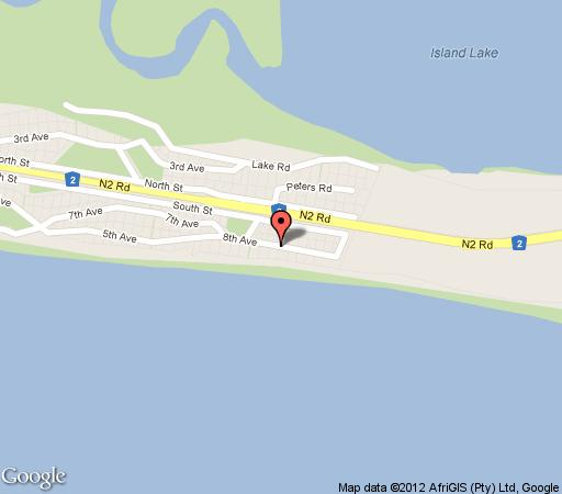 Map Aquarius Beach House in Wilderness  Garden Route  Western Cape  South Africa