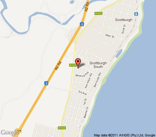 Map Le Mays in Scottburgh  South Coast (KZN)  KwaZulu Natal  South Africa