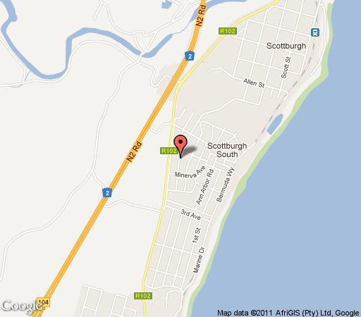 Map Le Mays in Scottburgh  South Coast (KZN)  KwaZulu Natal  South Africa