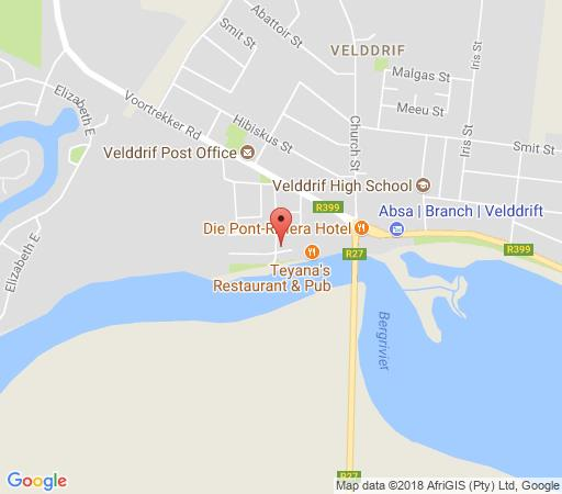 Map Quay West in Velddrif  West Coast (WC)  Western Cape  Afrique du Sud