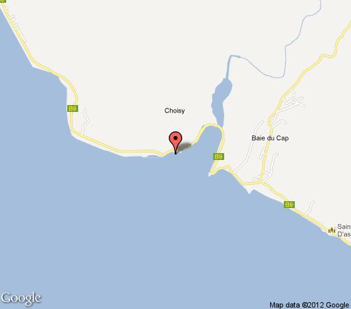 Map Beach Villa in Mont Choisy  Mauritius