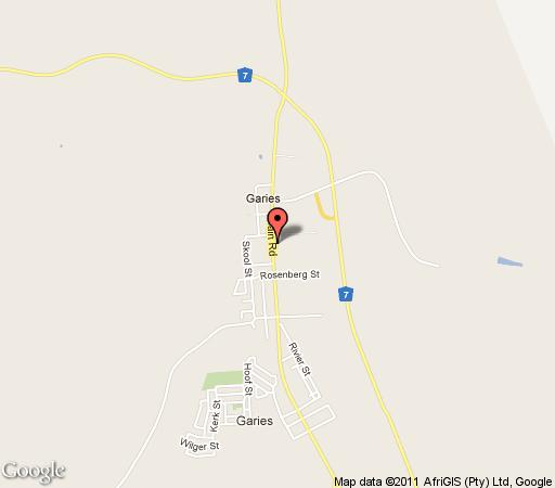 Map Rustig Gastehuis B&B in Garies  Namakwaland  Northern Cape  South Africa