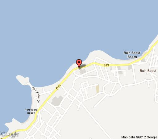 Map Les Buissons  in Pereybere  Mauritius