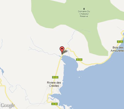 Map La Hacienda in Mahebourg  Mauritius