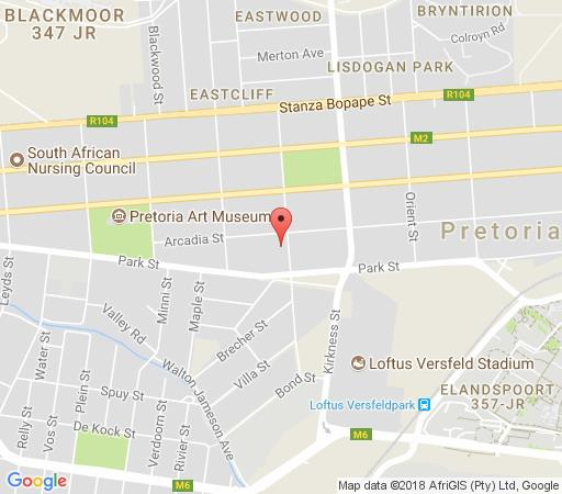 Map Corporate Accommodation in Arcadia  Pretoria Central  Pretoria / Tshwane  Gauteng  South Africa