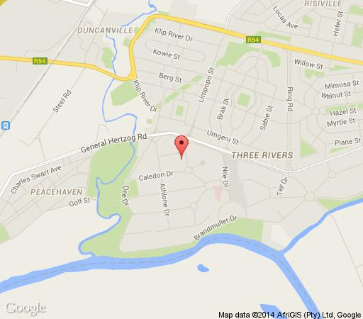 Map Bordeaux Haven Guest House in Vereeniging  Sedibeng District  Gauteng  South Africa