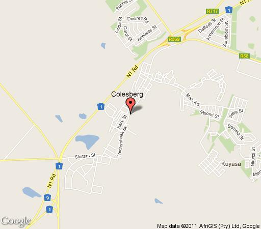 Map Colesberg Lodge in Colesberg  Upper Karoo  Northern Cape  South Africa