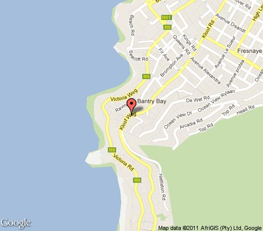 Map Florida Court in Bantry Bay  Atlantic Seaboard  Cape Town  Western Cape  South Africa