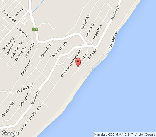 Map Bailey\'s Beach Cottage in Brighton Beach  Durban  Durban and Surrounds  KwaZulu Natal  South Africa