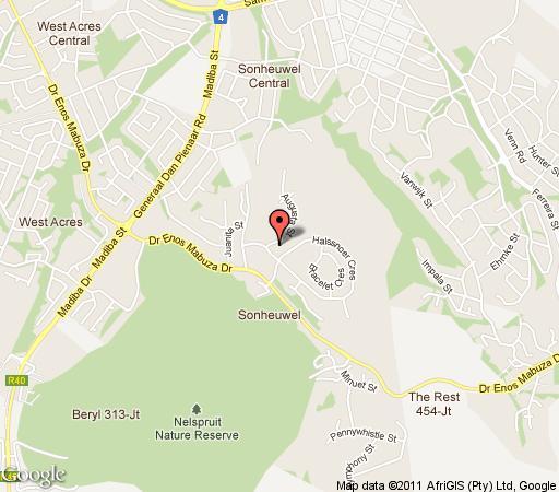 Map Mari\'u Guest House in Nelspruit  Lowveld  Mpumalanga  South Africa