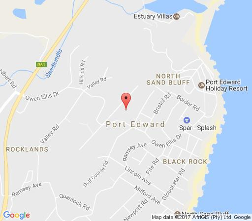 Map Ocean View B & B in Port Edward  South Coast (KZN)  KwaZulu Natal  South Africa