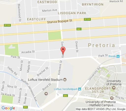 Map 360 Eastwoods Guest House in Arcadia  Pretoria Central  Pretoria / Tshwane  Gauteng  South Africa