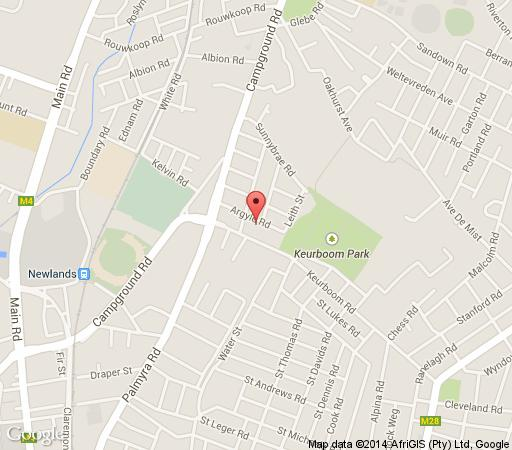 Map Hedge House in Newlands (CPT)  Southern Suburbs (CPT)  Cape Town  Western Cape  South Africa