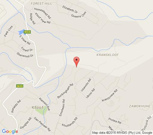 Map Ammazulu African Palace in Kloof  Western Suburbs (DBN)  Durban and Surrounds  KwaZulu Natal  South Africa