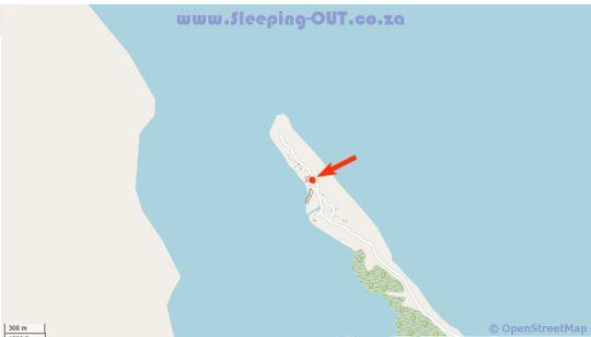 Map Macachula Beach Lodge in Pomene  Inhambane  Mozambique