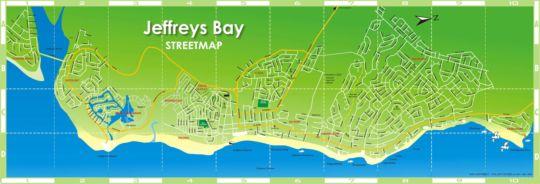 Map 3 Pepper Street  in Jeffreys Bay  Cacadu (Sarah Baartman)  Eastern Cape  South Africa