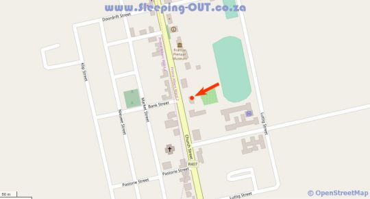 Map African Relish Cottages in Prince Albert  Karoo  Western Cape  South Africa
