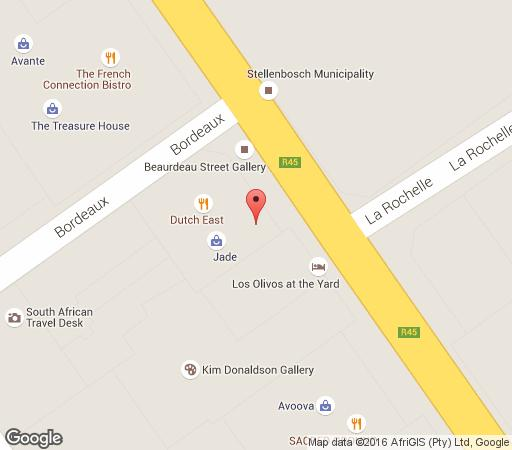 Map Los Olivos at the Yard in Franschhoek  Cape Winelands  Western Cape  South Africa