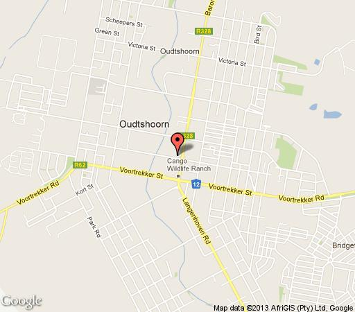 Map Turnberry Boutique Hotel in Oudtshoorn  Klein Karoo  Western Cape  South Africa