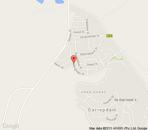 Map Gariep Poplar Self-Catering in Gariep Dam  Xhariep (Southern Free State)  Free State  South Africa