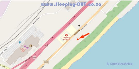 Map 305 Guest House in Amanzimtoti  South Coast (KZN)  KwaZulu Natal  South Africa