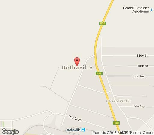 Map Chivhu Guest Farm in Bothaville  Lejweleputswa  Free State  South Africa