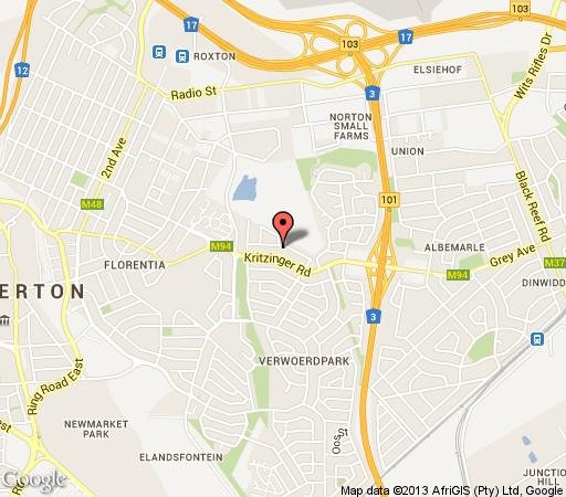Map Erica Lodge in Alberante Extension  Alberton  Ekurhuleni (East Rand)  Gauteng  South Africa