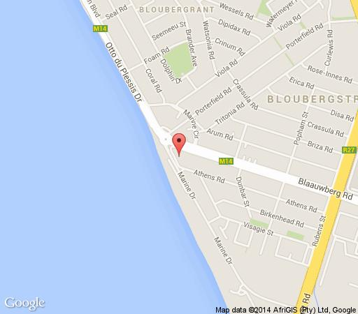 Map Horizon Bay in Bloubergstrand  Blaauwberg  Cape Town  Western Cape  South Africa