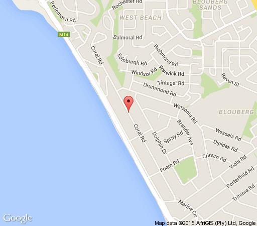 Map B1001 Ocean View in Bloubergstrand  Blaauwberg  Cape Town  Western Cape  South Africa
