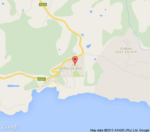 Map Heroldsbay Self Catering in Herold's Bay  Garden Route  Western Cape  South Africa