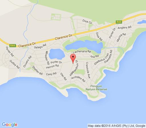 Map Fynbos Cottage in Betty's Bay  Overberg  Western Cape  South Africa