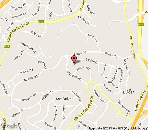 Map Seaview Manor in La Lucia  Northern Suburbs (DBN)  Durban and Surrounds  KwaZulu Natal  South Africa
